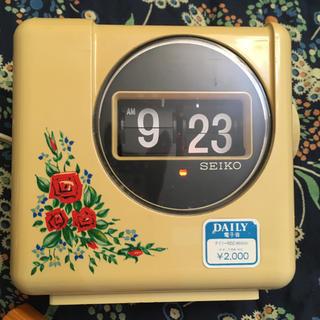 セイコー(SEIKO)の昭和レトロ SEIKOパタパタ時計^_^週末出品(置時計)
