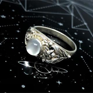 天然石リングSILVER925 シルバー925 19号指輪ムーンストーンギフト(リング(指輪))