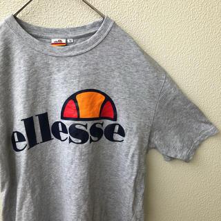 エレッセ(ellesse)のエレッセ Ellesse ユニセックス 半袖 Tシャツ ビッグロゴ グレー M(Tシャツ/カットソー(半袖/袖なし))