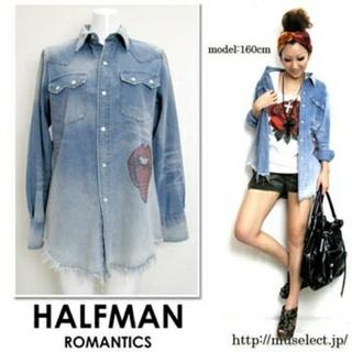 ハーフマン(HALFMAN)のHALFMAN - CRYSTAL LIP DUNGAREE SHIRTS(シャツ)