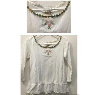 アッシュペーフランス(H.P.FRANCE)のlamp harajuku 購入 フラワー刺繍 カットソー  ♡(カットソー(長袖/七分))