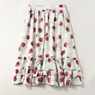 ジェーンマープル(JaneMarple)のA day in jouy フリルトリミングスカート(ひざ丈スカート)