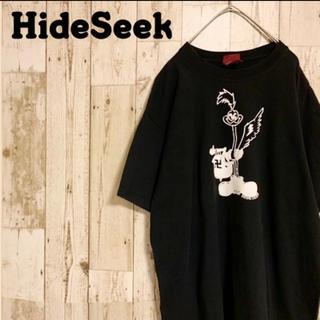 ハイドアンドシーク(HIDE AND SEEK)のハイドアンドシーク Tシャツ 半袖 ゆるダボ ビッグプリント 卍 まんじ L(Tシャツ/カットソー(半袖/袖なし))