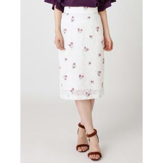 マーキュリーデュオ(MERCURYDUO)の明日まで ほぼ新品 完売 マーキュリーデュオ レース刺繍スカート(ひざ丈スカート)