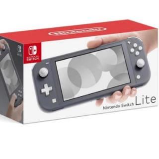 ニンテンドースイッチ(Nintendo Switch)のswitch lite グレー スイッチライト(家庭用ゲーム機本体)