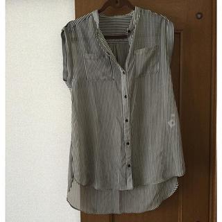 ジーユー(GU)のストライプチュニックシャツ(シャツ/ブラウス(半袖/袖なし))