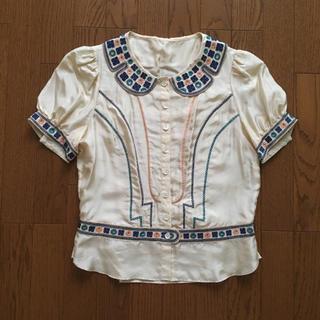ツモリチサト(TSUMORI CHISATO)のシルク ブラウス(シャツ/ブラウス(半袖/袖なし))