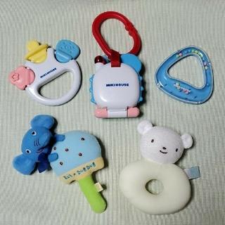 ミキハウス(mikihouse)のミキハウス ベビートーイセット+がらがら 歯がため 知育玩具 まとめ売り(がらがら/ラトル)