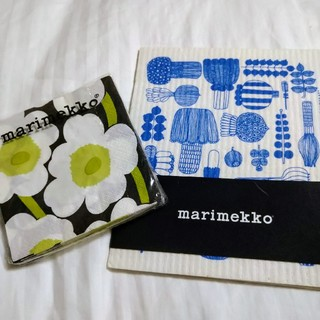 マリメッコ(marimekko)の【marimekko】ペーパーナプキン、スポンジクロスセット(その他)