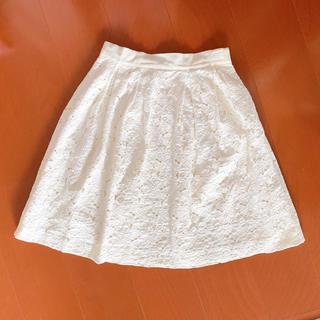 アベニールエトワール(Aveniretoile)のアベニールエトワール オフホワイト スカート(ひざ丈スカート)