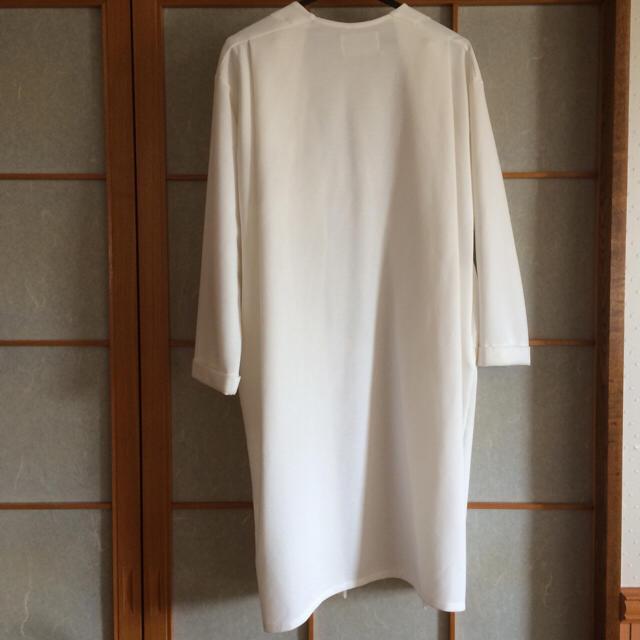 ☆ロングカーディガン☆白 レディースのジャケット/アウター(ロングコート)の商品写真