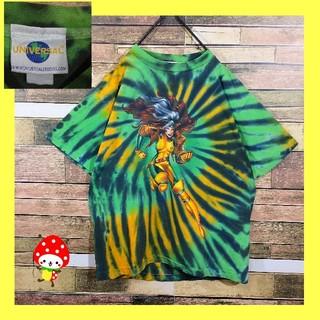 【 激レア ユニバーサルスタジオ 】USA古着 タイダイTシャツ M 緑 黒 黄