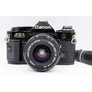 キヤノン(Canon)の美品 Canon AE-1 PROGRAM 28mm F2.8  S.C 047(フィルムカメラ)