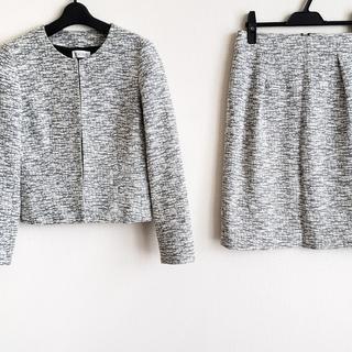 プラステ(PLST)のプラステ スカートスーツ サイズM - 白×黒(スーツ)