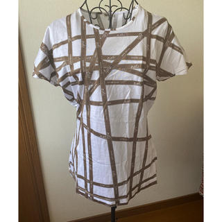 エルメス(Hermes)の美品 エルメス リボン柄Tシャツ(Tシャツ(半袖/袖なし))