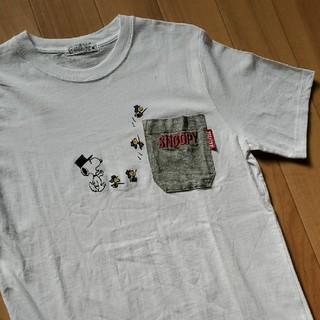 スヌーピー(SNOOPY)のPEANUT SNOOPY ピーナッツ スヌーピー ポケットTシャツ(Tシャツ/カットソー(半袖/袖なし))