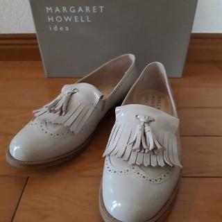 マーガレットハウエル(MARGARET HOWELL)のマーガレットハウエル ローファー ベージュ 23.5cm(ローファー/革靴)