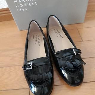マーガレットハウエル(MARGARET HOWELL)のマーガレットハウエル ローファー ブラック 23cm(ローファー/革靴)