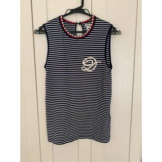 ダブルスタンダードクロージング(DOUBLE STANDARD CLOTHING)のトリコロール ノースリーブ(Tシャツ(半袖/袖なし))