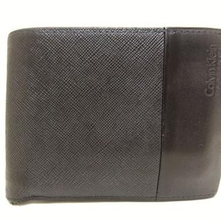 カルバンクライン(Calvin Klein)のカルバンクライン 2つ折り財布 黒 PLATINUM(財布)