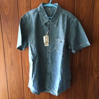 イオン タグ付き新品•未使用品 デニム半袖シャツ 男女兼用 2Lサイズ(シャツ)