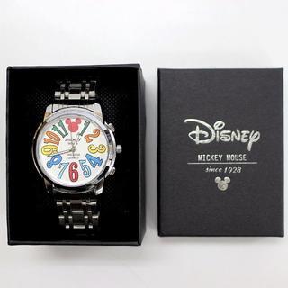 ディズニー(Disney)のディズニー ミッキーマウス クォーツ腕時計 WHITE/SILVER(腕時計(アナログ))