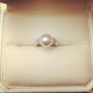 ミキモト(MIKIMOTO)のミキモト 真珠 パール ダイヤ 指輪(リング(指輪))