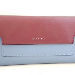 マルニ(Marni)のMARNI(マルニ) 長財布 - パープル レザー(財布)