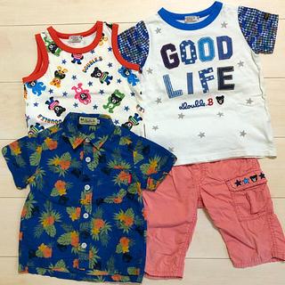 ダブルビー(DOUBLE.B)のDOBLE.B ダブルB アロハシャツ Tシャツ タンクトップ  100cm(Tシャツ/カットソー)