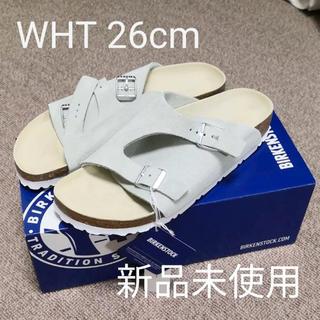 ビルケンシュトック(BIRKENSTOCK)の【新品未使用】ビルケンシュトック チューリッヒ ホワイト 26cm(サンダル)