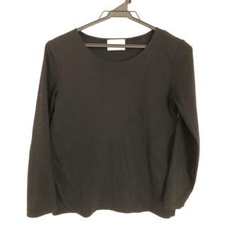ユナイテッドアローズ(UNITED ARROWS)の美品です/ユナイテッドアローズ  ブラックロングTシャツ Mサイズ(Tシャツ/カットソー(七分/長袖))