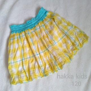 ハッカキッズ(hakka kids)のhakka kids ハッカキッズ バルーンスカート チェック 120(スカート)