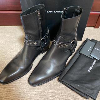サンローラン(Saint Laurent)のサンローラン ワイアットハーネスブーツ レザー スタッズ 国内正規品 新品(ブーツ)