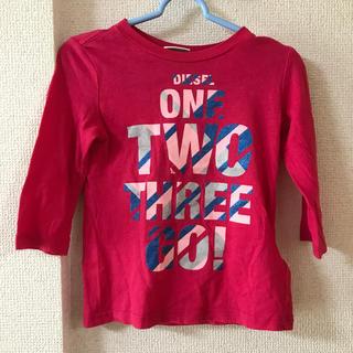 ディーゼル(DIESEL)のディーゼル DIESEL 9M ロンT キッズ  ベビー ピンク(Tシャツ)