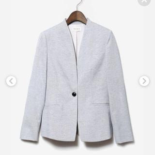 プラステ(PLST)の試着のみ plst リネンブレンドカラーレスジャケット ライトグレー L(ノーカラージャケット)