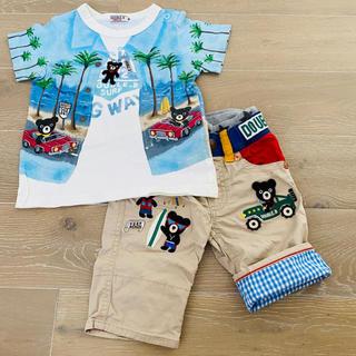 ダブルビー(DOUBLE.B)のミキハウス ダブルビー だまし絵Tシャツ 豪華パンツ 90(Tシャツ/カットソー)