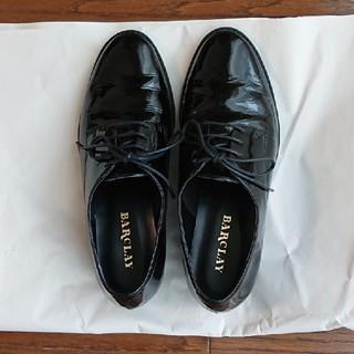 バークレー(BARCLAY)の値下げ!エナメル 紐靴 バークレー サイズ22 黒(ローファー/革靴)