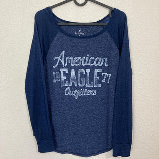 アメリカンイーグル(American Eagle)のアメリカンイーグル ロングTシャツ レディースL(カットソー(長袖/七分))
