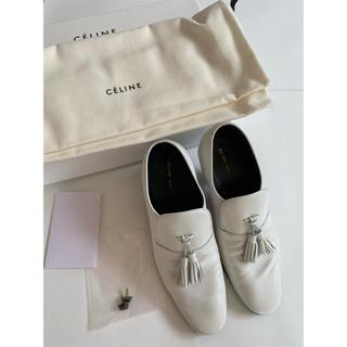 セリーヌ(celine)のceline☆セリーヌ タッセル パンプス ホワイト ヒール7㎝ 36サイズ(ローファー/革靴)