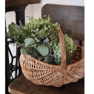 紫陽花農家さんのアナベル.。夏から秋へドライフラワースワッグ.swag(ドライフラワー)