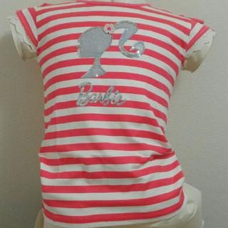 バービー(Barbie)の【超特価!】キッズ 半袖Tシャツ バービー ボーダーレッド 150サイズ(Tシャツ/カットソー)