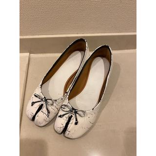 マルタンマルジェラ(Maison Martin Margiela)の美品 マルジェラ 足袋パンプス 37h  ペンキ 足袋ブーツ 正規品(ハイヒール/パンプス)