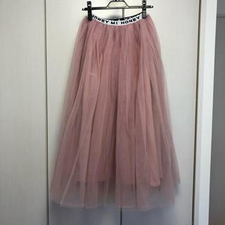 ハニーミーハニー(Honey mi Honey)のHONEY MI HONEY ロングチュールスカート ピンク(ロングスカート)