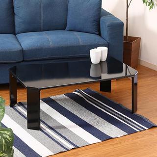 UVローテーブル ルーチェ 幅90cm ブラック(ローテーブル)