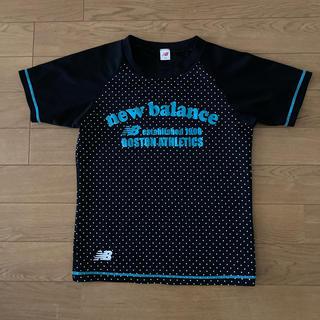 ニューバランス(New Balance)の【ニューバランス】Tシャツ 黒色&水玉柄 140cm(Tシャツ/カットソー)