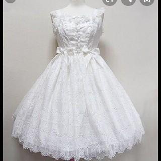 アンジェリックプリティー(Angelic Pretty)のアンジェリックプリティ holy lacy doll ジャンパースカート(ミニワンピース)