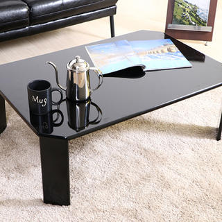 UVローテーブル ルーチェ 幅75cm ブラック(ローテーブル)