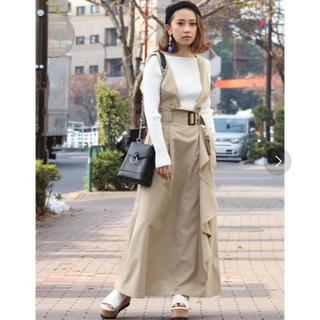 ムルーア(MURUA)の9月末まで【MURUA】2wayサロペットスカート(ロングスカート)