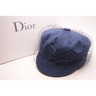 クリスチャンディオール(Christian Dior)のクリスチャンディオール キャスケット IU着用 デニム 新品同様 57(キャスケット)