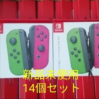 ニンテンドースイッチ(Nintendo Switch)の新品 14台セット ジョイコン joy con ネオングリーン ネオンピンク ⑥(家庭用ゲームソフト)